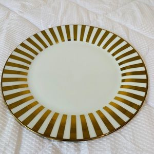Ciroa Luxe Gold Metallic Porcelain Dinner Plates